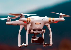 The use of drones in logistics is becoming more frequent.